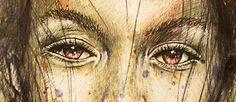 "Regard Soupçon / Collection ""Parhélie"" / 21 x 29.7 cm / Modèle : #katebogucharskaia / #portrait #art #sketch #fredml #ink #aquarelle #drips #ink #sketching #streetart #emotion #expression #sensual #woman"