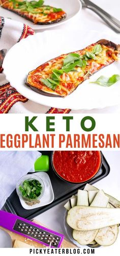 This low-carb, healthy Keto Eggplant Parmesan is a lightened up version of the classic Italian dish. Made without breadcrumbs, each slice is low in calories and low in fat, without compromising on flavor.