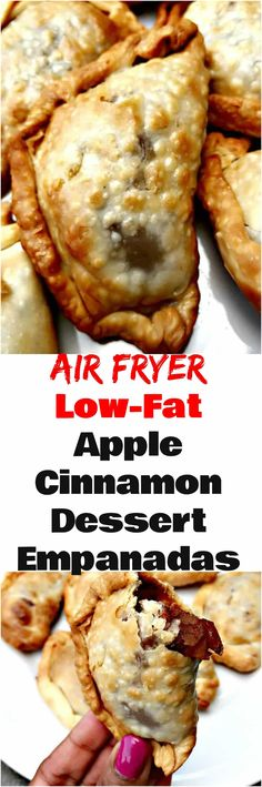 Air Fryer Apple Cinnamon Dessert Empanadas is a quick and easy lowfat recipe that makes the perfect treat for any occasion Less than 20 minutes cook time! is part of Air fryer oven recipes - Air Fryer Oven Recipes, Air Fry Recipes, Apple Recipes, Cooking Recipes, Sweet Recipes, Crockpot Recipes, Cinnamon Desserts, Cinnamon Apples, Cookie Desserts