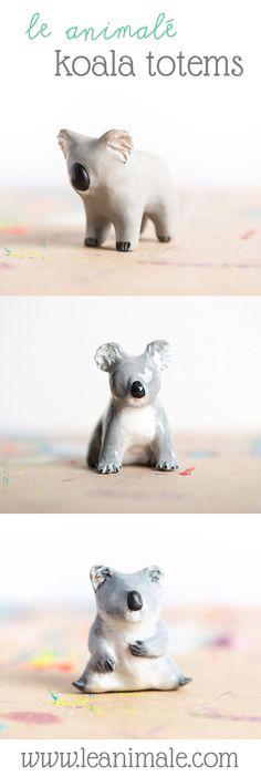 #Koala totems from le animalé! www.leanimale.com