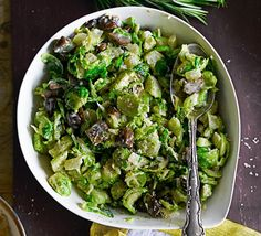 Double cream, nutmeg and chestnuts make a luscious addition to traditional Brussels sprouts - just watch this extra-ingulgent side dish disappear on Christmas Day Christmas Dinner Menu, Christmas Cooking, Christmas Recipes, Christmas Stuff, Christmas Side, Christmas Dinners, Xmas Food, Dinner Entrees, Dinner Recipes