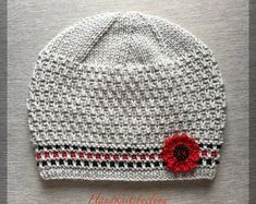 Knitting Pattern 114 Blue Hat with Mock Cables for a Lady Weaving Patterns, Knitting Patterns, Crochet Patterns, Hat Patterns, Crochet Beanie, Knitted Hats, Crochet Hats, Knitting Projects, Crochet Projects