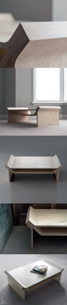 Disstak Table from Scot Jarvie http://scottjarvie.co.uk/portfolio-item/disstak-ply-wood-furniture-design/