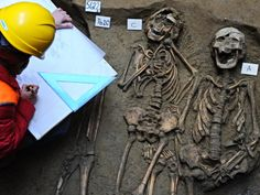Medieval mass grave unearthed at the Uffzi Gallery in Italy thought to contain dozens of plague victims.
