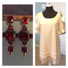 Cute party outfit! Earring and Dress Combo See individual listings for details. 20% discount of original listings Dresses