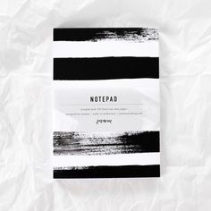 Striped Notepad by Jasmine Dowling