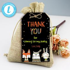 Tribal Wild One Thank You Tags, Boho Woodland Animals, Party Instant Download Printable Template Editable YOU PRINT Thank You Tags, Wild Ones, I Party, Woodland Animals, Party Printables, Birthday Celebration, Save Yourself, Printable Templates, Christmas Ornaments