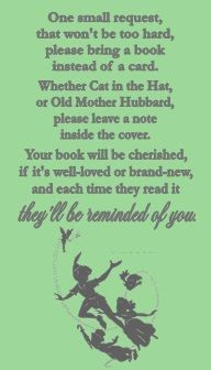 Peter Pan Tinkerbell Baby Shower Book Request Card Ticket by DannisCuteCreations