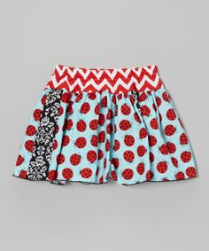 Aqua Ladybugs Skirt