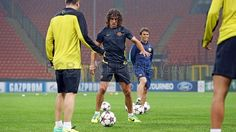 Training session in Milan