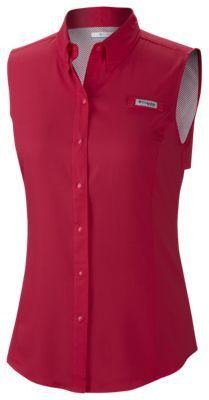 Columbia Tamiami Sleeveless Shirt for Ladies - Bright Rose - XS