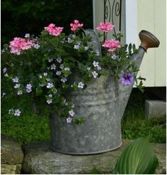 Flower Garden Front Porch Flower Planter Ideas 46 - While it might seem little and insignificant, styling your front porch can greatly raise the value of your house. The front porch actually will be helpful for giving the most effective first impres… Garden Yard Ideas, Diy Garden, Garden Cottage, Lawn And Garden, Garden Art, Potager Garden, Garden Junk, Garden Tips, Indoor Garden