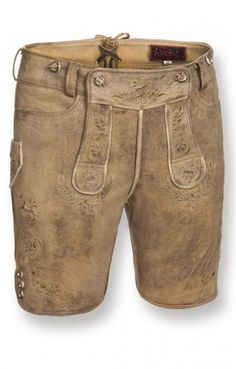Short traditional leather trousers Hochries cornantique short h-beam.