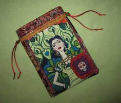 Tarot Card Bag Frida 6X9 Day of the Dead Goddess Magick