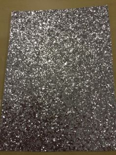 Silver chunky Glitter wall covering