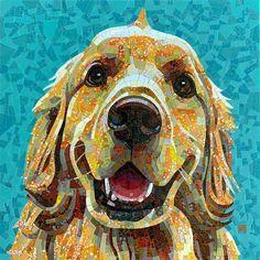 Mosaic Glass, Mosaic Tiles, Stained Glass, Mosaic Animals, Creative Art, Dogs, Creativity, Painting, Mosaics