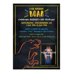 Dinosaur Theme Birthday Invitation Dinosaur Birthday Invitations, Chalk Drawings, Son Love, Birthday Fun, Create Yourself, Birthdays, Dinosaurs, Anniversaries, Birthday
