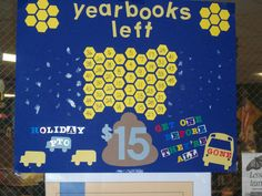 A visual way to sell those last few yearbooks. We were the HORNETS, so I used the honeycomb idea for the poster. Teaching Yearbook, Yearbook Class, Yearbook Design, Yearbook Ideas, Yearbook Photos, Advertising Sales, Sales And Marketing, Marketing Ideas, Jostens Yearbook