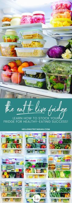 Learn how to organize your fridge for Dr. Fuhrman's nutritarian eat to live plan! Also, perfect if you're starting any plant-based, whole food healthy eating plan! Get free printable shopping lists too!