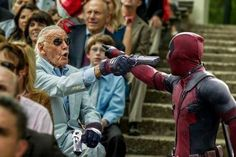 therealjacksepticeye: the-hoody-geek: Stan Lee's cameo in Deadpool looks hype as fuck YESS! All I want is Deadpool to recognise Stan Lee for who he is and destroy that wall! Marvel Dc Comics, Marvel Funny, Marvel Heroes, Marvel Avengers, Dead Pool, Dc Movies, Marvel Movies, Stan Lee Cameo, Marvel Cinematic Universe