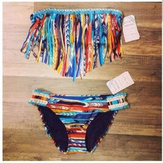 Native pattern fringe suit