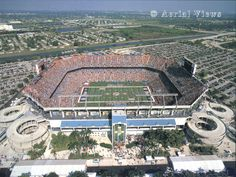 Sun Life Stadium, aka Joe Robbie Stadium - Home of the Miami Dolphins.