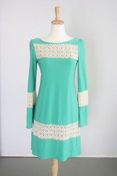 Missy Robertson's new clothing line!  Emerald Knit Sheath with Crochet Inset.  $109