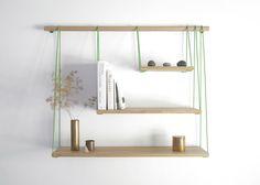 Design collective Outofstock have designed Bridge Shelves, a shelving unit inspired by suspension bridges.