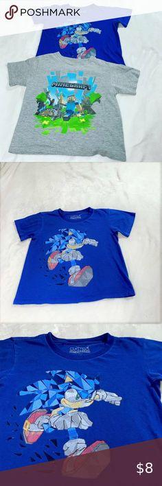 NWT OLD NAVY Boys Minecraft Characters Creeper Tees T-Shirt Shirt 8 10 12 14 16