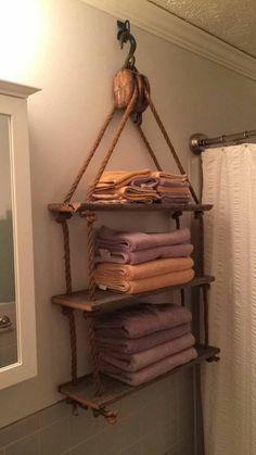 Recycled Block Hanging Shelf