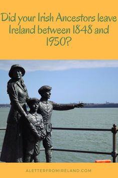 When did your Irish Ancestor leave Ireland? In my own case, 5 of my uncles left for a better life – but when I look at our extended family starting in 1874 – over 75% moved or are currently living outside Ireland! #Ireland #Irishdiaspora #Irishamericanhistory #DNA #Ancestry #Genealogy #familytree