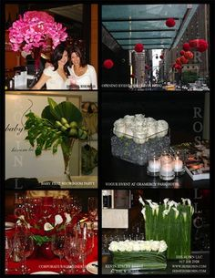 Various Events throughout the year. Vogue magazine party. Private Birthday party. Grand Opening of a Residential Building. Lockhead Martin Holiday party. Baby Phat Cocktail party in the Showroom.  www.irisrosin.com