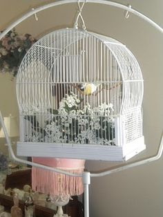 Cottage Blessings: My Vintage Birdcage