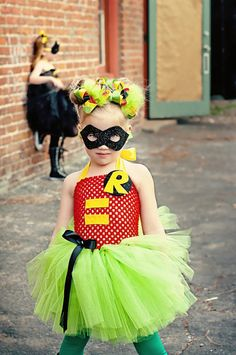 Robin girls superhero tutu dress and  by SofiasCoutureDesigns, $59.00 If I could find someone to dress with me as a DC super hero!!! I would so do this!!!