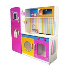 Leomark Grande cucina in legno con Frigo giocattolo - Living Fun House