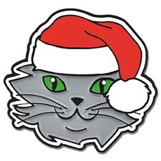 PinMarts Christmas Cat with Santa Hat Enamel Lapel Pin *** Details can be found by clicking on the image.(This is an Amazon affiliate link and I receive a commission for the sales)