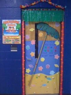 Teaching Happily Ever After: Ocean/Beach themed classroom- grade in photographs! Kindergarten Classroom Decor, New Classroom, Classroom Themes, Classroom Design, Ocean Themes, Beach Themes, Ocean Beach, Beach Room, Teacher Doors