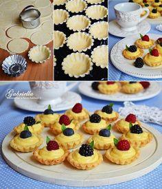 The Novel Bakers Present: The Vintage Tea Party Book! Bakery Recipes, Cooking Recipes, Easy Desserts, Dessert Recipes, Mini Tart, Cherry Cake, Mini Cupcakes, Cake Cookies, High Tea