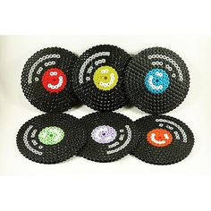 LP record coasters hama beads by hamabeading More