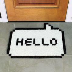 Hello White Doormat