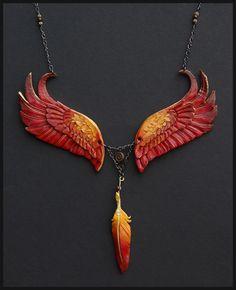 "Inspiring! - ""Eternal Phoenix Leather Necklace by *windfalcon on deviantART"""