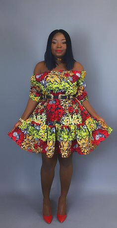 Vêtements fait main imprimé africain wax africain robe