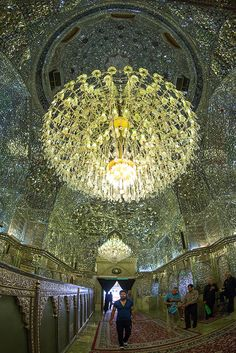 mislim shiite people hall of the shah-e-cheragh mausoleum, Fars Province, Shiraz, Iran | © Eric Lafforgue www.ericlafforgue.com