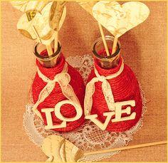 DIY Bodas : Botellas de cristal forradas con cuerdas 5 Love Languages, Message In A Bottle, Ideas Para, Diy Wedding, Centerpieces, Diy Crafts, Messages, Christmas Ornaments, Holiday Decor