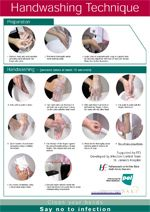 Hand washing technique poster