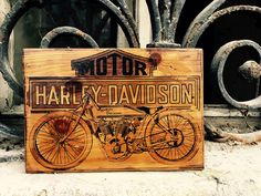 Excited to share the latest addition to my #etsy shop: Harley Davidson F J JD Vintage Motorcycle Art Wooden Picture Wall Decor Home Decor