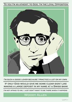 Woody Allen Collage quote actor comedian por SoulArtCorner en Etsy