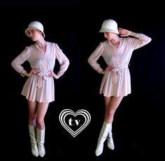 vtg 70s palest pink VICTORIAN lace MINI DRESS by TigerlilyFrocks, $40.00