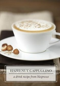 No matter the season, you can't go wrong with this Hazelnut Cappuccino recipe from Nespresso. In fall, however, the nutty flavor profile becomes extra indulgent and cozy.