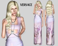 Versace Spring 2014 dress by Jewelsnsims - Sims 3 Downloads CC Caboodle
